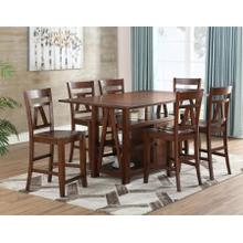 Bryson 7 Piece Counter Set(Counter Table & 6 Counter Chairs)