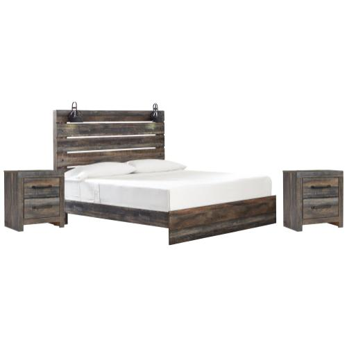 Ashley - King Panel Bed With 2 Nightstands