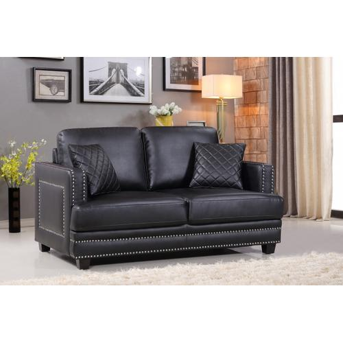 "Ferrara Leather Loveseat - 62"" W x 35"" D x 34"" H"
