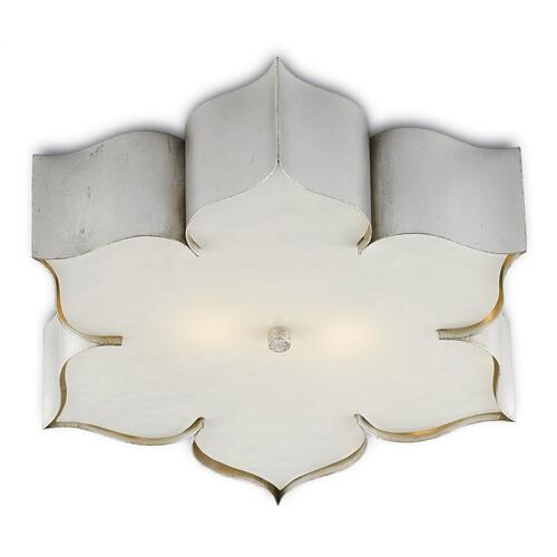 Grand Lotus Silver Flush Mount
