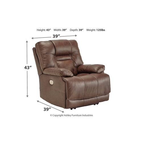 Signature Design By Ashley - POWER RECLINER WITH ADJUSTABLE HEADREST AND LUMBAR
