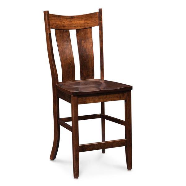 "See Details - Corbin Stationary Barstool, 30"" Seat Height / Fabric Cushion Seat"