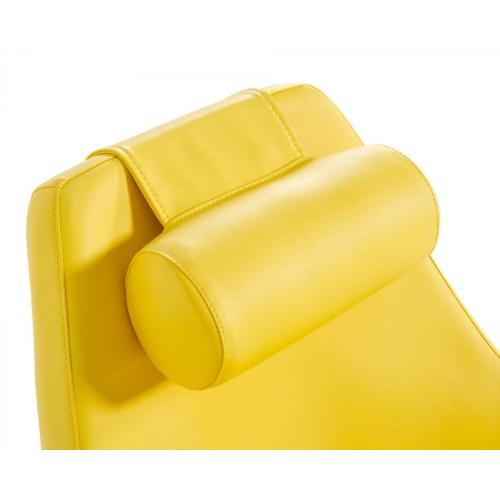 Modern Kenora - Modern Yellow Eco-Leather Accent Chair