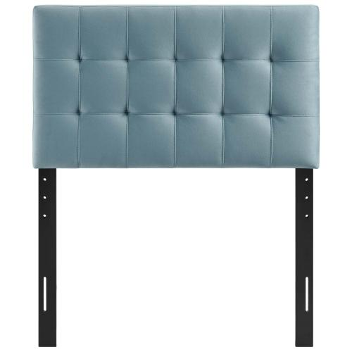 Modway - Lily Biscuit Tufted Twin Performance Velvet Headboard in Light Blue