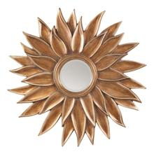 See Details - Orleans Beveled Sun Flower Wall Mirror In Gold