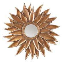 Orleans Beveled Sun Flower Wall Mirror In Gold