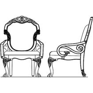 Fabric Back Arm Chair