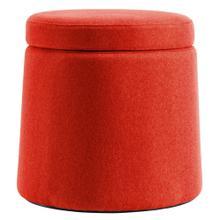 See Details - Ova Balance Storage Stool In Orange Fabric