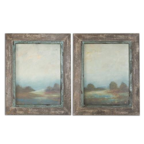 Morning Vistas Oil Reproductions, S/2