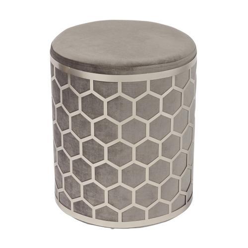 Tov Furniture - Aubrey Grey Velvet Ottoman