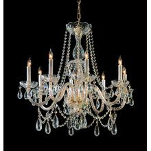 See Details - Traditional Crystal 8 Light Polished Brass Hand Cut Crystal Chandelier