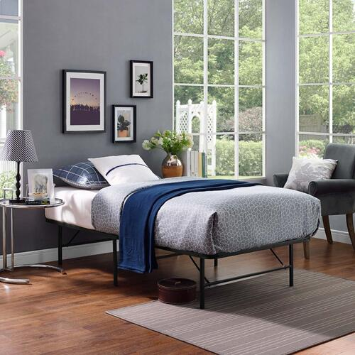Modway - Horizon Twin Stainless Steel Bed Frame in Brown