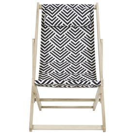 Rive Foldable Sling Chair - White Wash / Navy