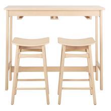 See Details - Colbie 3 Piece Pub Set - White Oak
