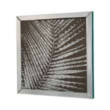 Mirror Framed Wall Decor w/Crystal Accented Leaves