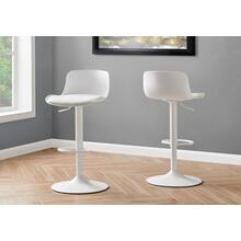 BARSTOOL - 2PCS / WHITE / WHITE METAL HYDRAULIC LIFT