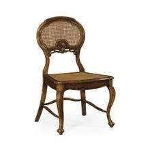 French style salon chair with caned back (Side)