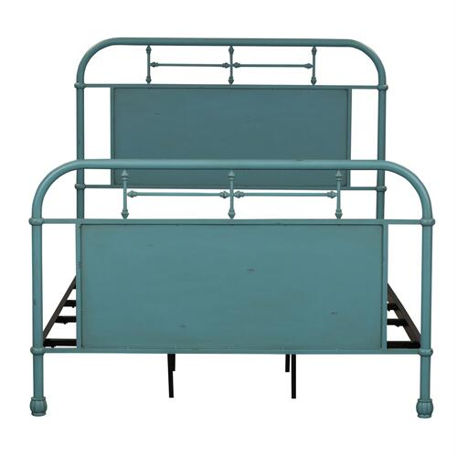Liberty Furniture Industries - Full Metal Bed - Blue
