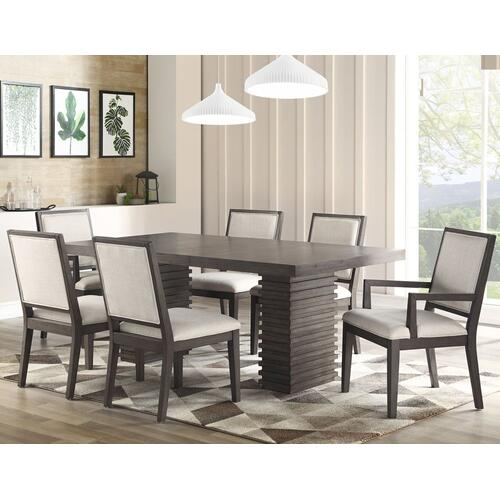 "Mila 60-78 Inch Dining Table w/18"" Leaf"
