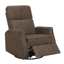 Tabor Swivel Reclining Glider Brown
