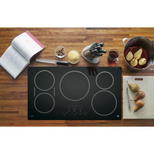 "GE Profile 36"" Induction Cooktop Black PHP9036DJBB"