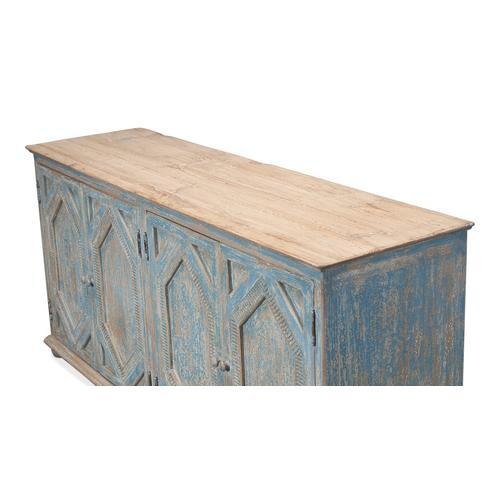 Four Diamonds Sideboard,Ant.Blue Wash