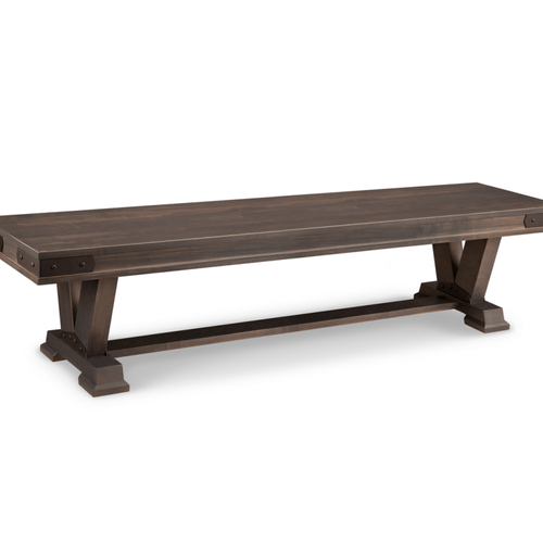 """Chattanooga 72"""" Pedestal Bench with Wood Seat"""
