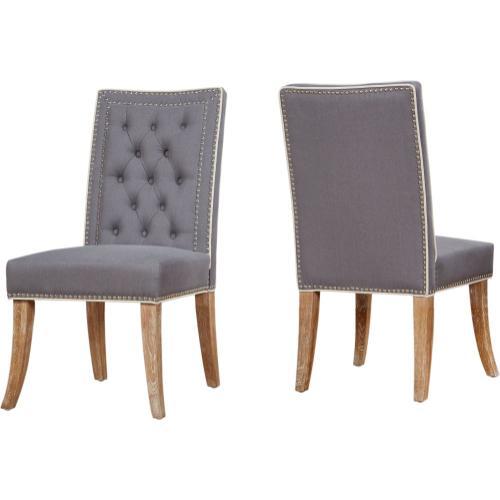 Tov Furniture - Garrett Grey Linen Dining Chair (Set of 2)