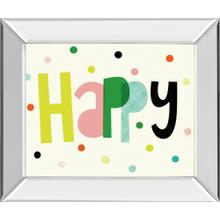 """Happy"" By Sophie Ledesma Mirror Framed Print Wall Art"