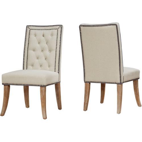 Garrett Beige Linen Dining Chair - Set of 2