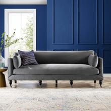 Windsor Performance Velvet Sofa in Gray