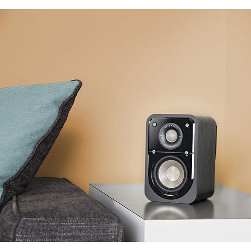 American HiFi Home Theater Compact Satellite Surround Speaker in Washed Black Walnut