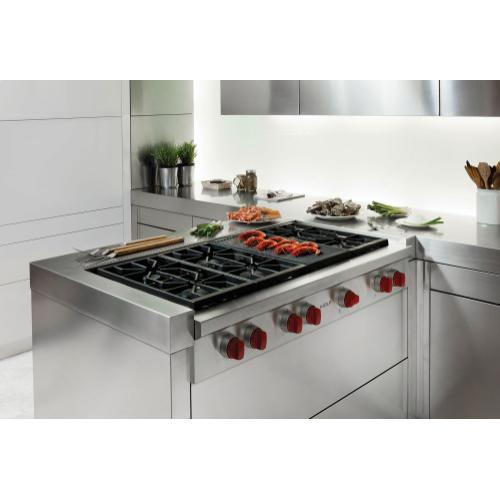 "48"" Sealed Burner Rangetop - 6 Burners and Infrared Charbroiler"