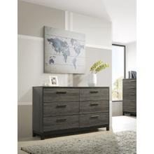 Ioana Antique Grey Finish Wood 6 Drawers Dresser