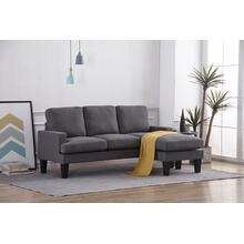 8161 DARK GRAY Fabric Basic Sectional Sofa