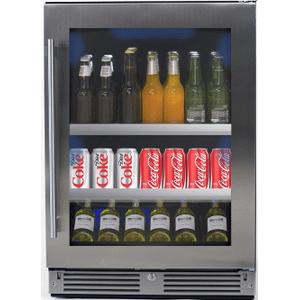 XO APPLIANCE24in Beverage Center SS Glass RH
