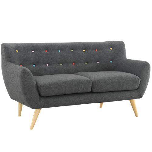 Remark 2 Piece Living Room Set in Gray