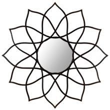 Flower Power Mirror - Coffee Bronze