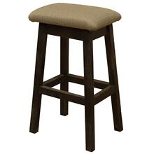 "Saddle Stool - 24"" high - Barn Brown - Customer Fabric"