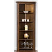 1 - ONLY Savannah Corner Curio/ Book Case