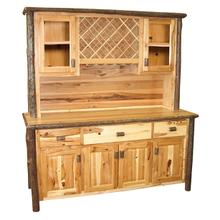 Buffet & Hutch with Wine Rack - 75-inch - Cinnamon