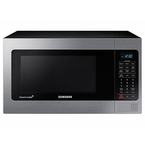 Samsung - 1.1 cu. ft Countertop Microwave with Grilling Element in Stainless Steel
