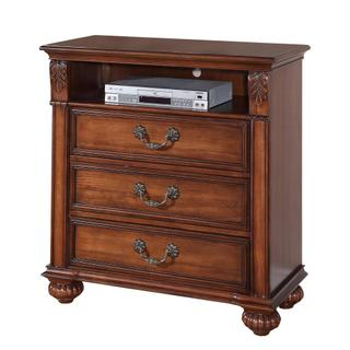 Barkley Square Media Chest Oak