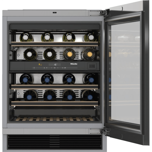 KWT 6322 UG - Built-under wine storage unit with FlexiFrame and Push2open for greater versatility and top-quality design.