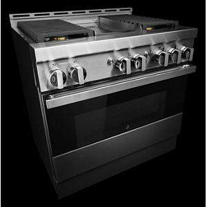 """JennAir - 36"""" NOIR™ Gas Professional-Style Range with Chrome-Infused Griddle"""