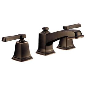 Boardwalk mediterranean bronze two-handle bathroom faucet