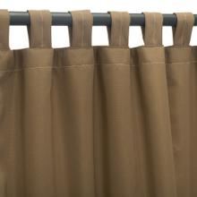 See Details - Sunbrella Canvas Cocoa Outdoor Curtain with Tabs