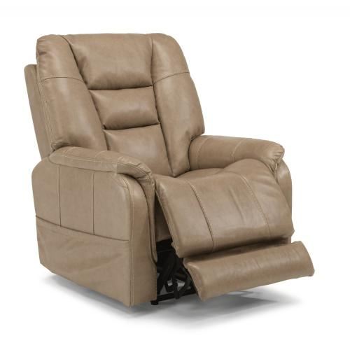 Pete Leather Power Recliner with Power Headrest