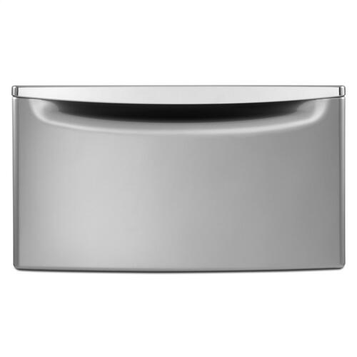 """Amana Canada - 15.5"""" Laundry Pedestal with Chrome Handle and Storage Drawer"""