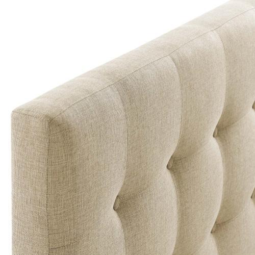 Emily Full Upholstered Fabric Headboard in Beige